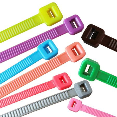 100 x Cable Tie various lengths and colours – image 1