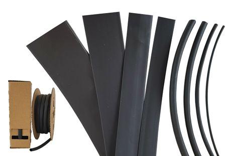 Minibox 12m Heat-shrinkable Tubing 4,5 mms (3:1) 125°C black UL
