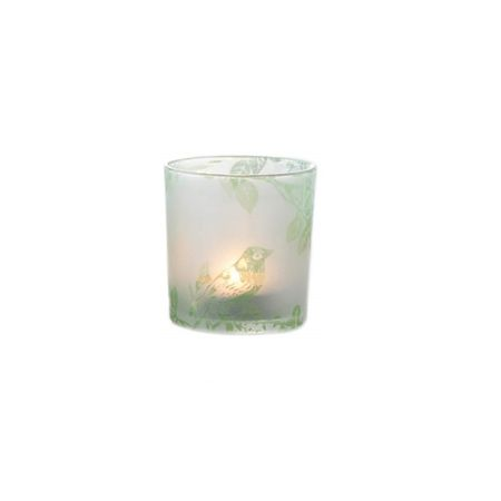 Beautiful Tea Light Holder bird motive glass lantern 8x7 cms various colours – image 7