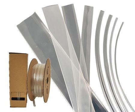 5m Schrumpfschlauch in Minibox 24mm Transparent BEC3 105°C Schrumpfrate 3:1