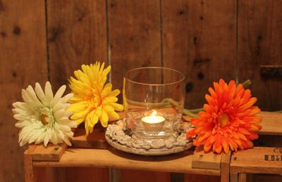 Vase Glass Vase 9,5 x 10,6cms for tealight or storm light – image 1