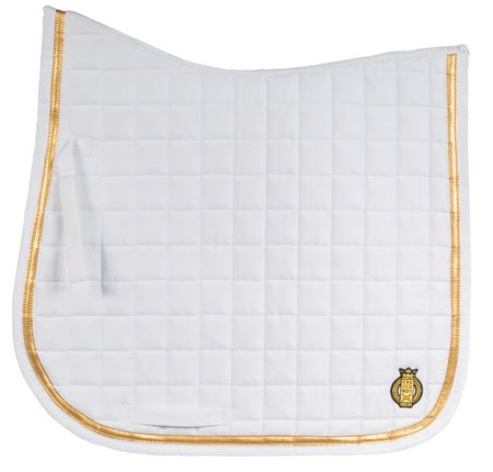 SALE !! Classy Dressage Saddle Pad with golden border Pony or Full various colours – image 4