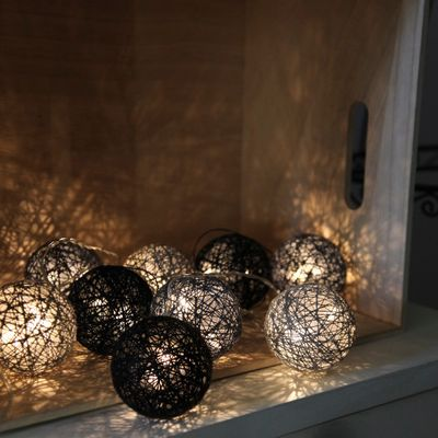"LED Chain of Lights ""Cotton Balls"" 10 lights with plug incl. 3 meters feeding cable – image 11"