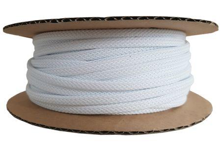 50m Geflechtschlauch 3-7mm weiß
