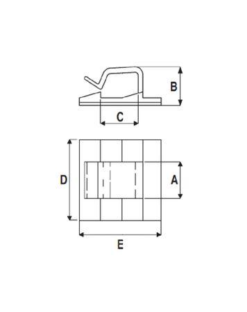 25 x Kabel Klebesockel Clip 26x26mm selbstklebend – Bild 3