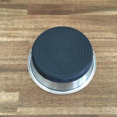 AKTION Rutschfester Hunde Fressnapf Wassernapf Edelstahl mit Gummiboden 2800 ml – Bild 2