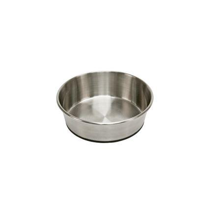 AKTION Rutschfester Hunde Fressnapf Wassernapf Edelstahl mit Gummiboden 2800 ml – Bild 1