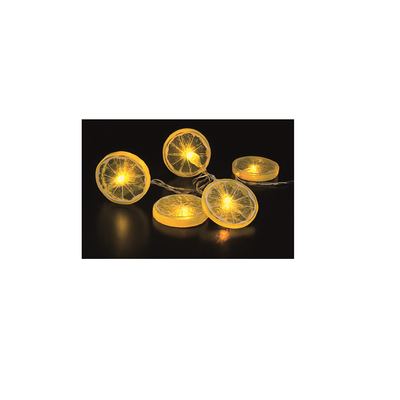 LED Chain of Lights with timer 10 lights oranges or lemons warm white battery-operated – image 2