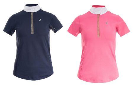 Damen Turniershirt Poloshirt mit kurzen Ärmeln und UV-Schutz, Farbwahl – Bild 1