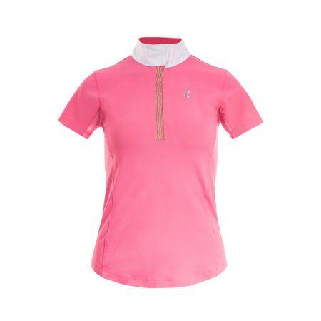 Funktionelles Damen Turniershirt Poloshirt mit kurzen Ärmeln Anti UV Farbwahl – Bild 4