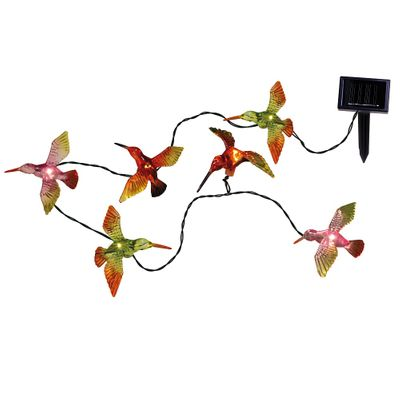 LED Solar Chain of Lights Kolibris, Butterflies and dragonflies outdoor 6-part – image 4