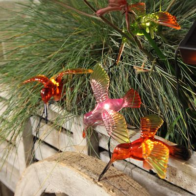 LED Solar Chain of Lights Kolibris, Butterflies and dragonflies outdoor 6-part – image 5