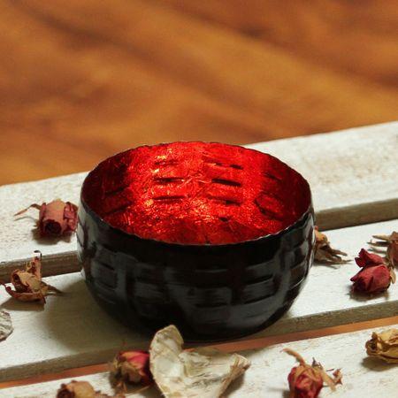 Deko Windlicht Teelichthalter aus Metall schwarz 12x7 cm Auswahl – Bild 4