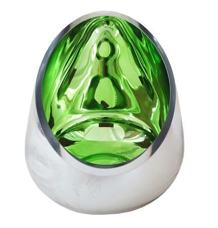 Teelichthalter Teelicht Windlicht Metall außen silber 14x13 cm innen Farbauswahl – Bild 4