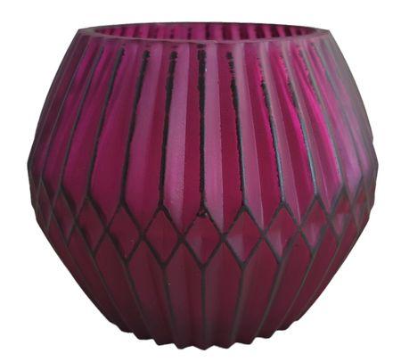 Beautiful Tea Light Holder Glass Lantern in lampion form 9,5x12 cm various colours – image 5