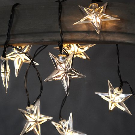 Metal Stars LED Chain of Lights with 10 lights battery-operated with timer – image 7