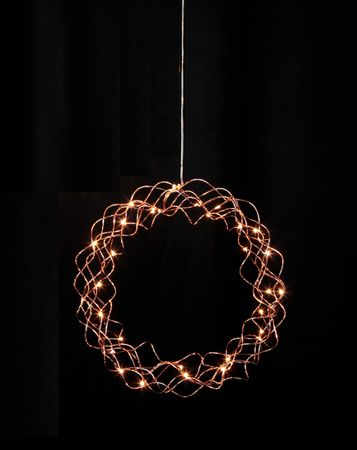 LED Light Wreath Curly Metal for Wall, Door and Window 30 lights Indoor – image 3