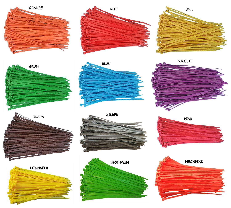 100x Kabelbinder Wiederlösbar 200 x 4,8mm weiss ; Wiederverwendbar