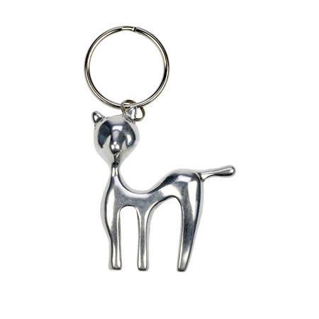 Tierfiguren Schlüsselanhänger aus Aluminium Auswahl Katze oder Gecko – Bild 3