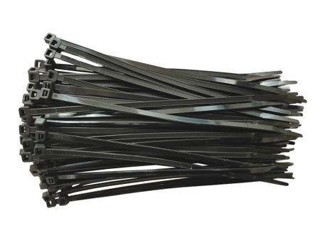 100x Cable Tie Weather Resistant UV-stabilized black various sizes and quantities