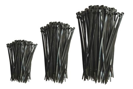 100x Cable Tie Weather Resistant UV-stabilized black various sizes and quantities – image 1