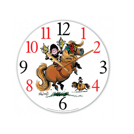 SALE  Thelwell Glass Wall Clock Thick Horse Champion
