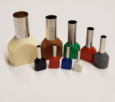 100 x Aderendhülsen TWIN isoliert Querschnitt und Farbcode bitte wählen