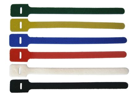 Hook-and-loop Cable Tie 8x155mms extremely persistent and UV resistant, choose colour/size/quantity – image 1