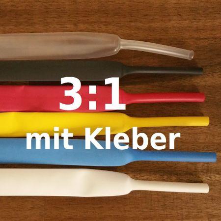 Schrumpfschlauch 3:1 mit Kleber wassserdicht von 3mm bis 50mm DM Größe/Farbe bitte wählen – Bild 1