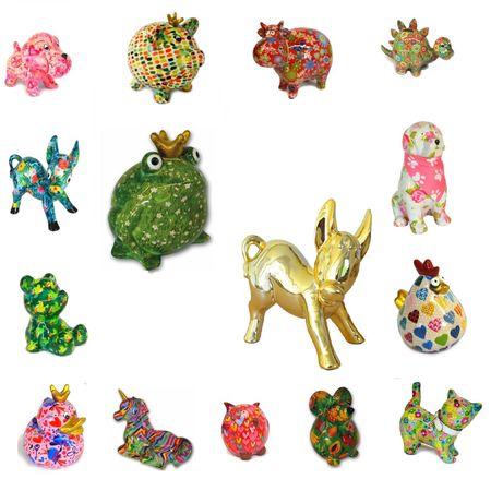 Verschiedene Tiere Figuren Spardose aus Keramik Pomme Pidou Sabo Design – Bild 1
