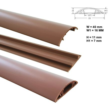 Floor Wire Duct 1m PVC or ALU self-adhesive different sizes – image 7
