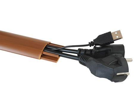 1m Fußboden Kabelkanal PVC oder ALU selbstklebend in verschiedenen Breiten – Bild 11