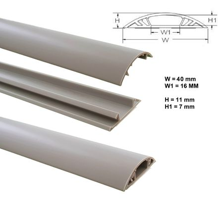 Floor Wire Duct 1m PVC or ALU self-adhesive different sizes – image 13
