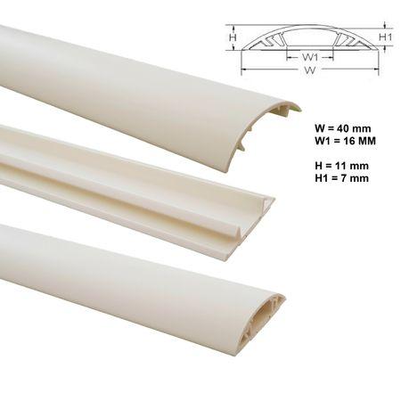 1m Fußboden Kabelkanal PVC oder ALU selbstklebend in verschiedenen Breiten – Bild 19