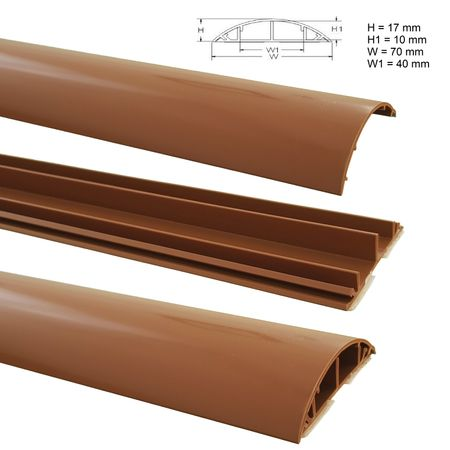 Floor Wire Duct 1m PVC or ALU self-adhesive different sizes – image 24