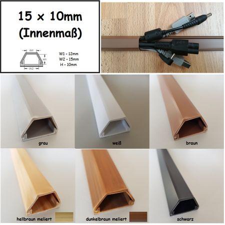 1m Kabelkanal Wandmontage verschiedene Größen und Farben – Bild 9