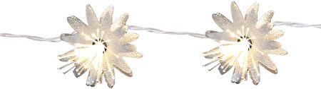 LED Batterie Lichterkette Blumen 10 Lichter warm weiß Indoor – Bild 1