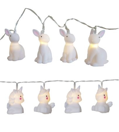 LED Battery Chain of Light Angel, Rabbit or Unicorn 10 Lights warm white Indoor – image 1