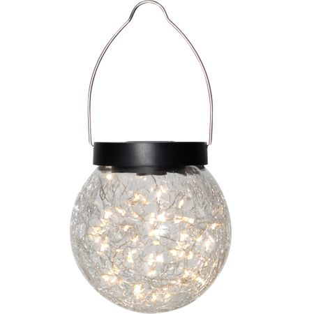 Solar Lamp Garden Light Hanging Lamp Glass Light with 30 LED Outdoor – image 2