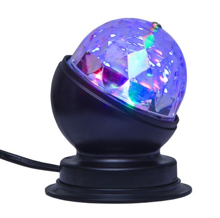 LED Rotating Disco Light - Bulb E27 or lamp with power cable – image 3