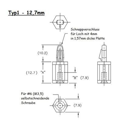 Ministift Sicherungsstift Abstandhalter für Leiterplatten – Bild 4