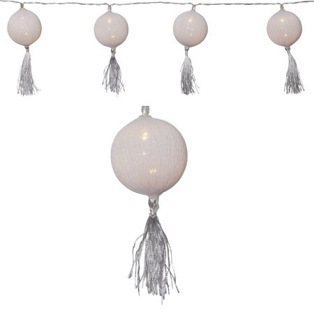 "AKTION LED Batterie Lichterkette ""Tassel"" 10 Lichter Indoor Farbe Weiß – Bild 3"