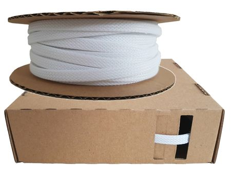 Braided Expandable Sleeving from 2-4mm to 25-50mm white or black – image 15