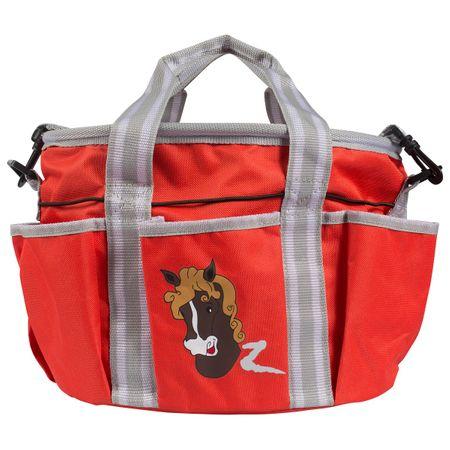 Putztasche für Kinder (18x28x25cm) mit Pferdekopfaufdruck und 6 Außentaschen – Bild 4