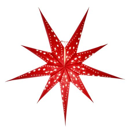 Christmas Hanging Paper Shining Star without Cable – image 2