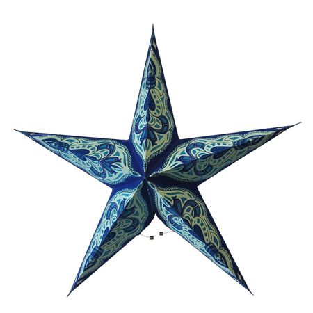 Christmas Hanging Paper Shining Star without Cable – image 23