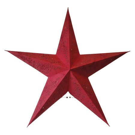 Christmas Hanging Paper Shining Star without Cable – image 3
