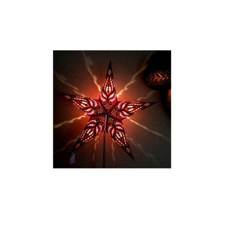 Christmas Hanging Paper Shining Star without Cable – image 8