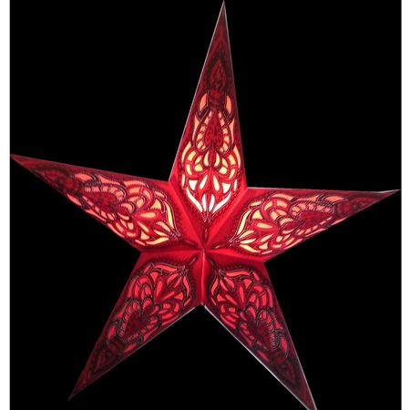 Christmas Hanging Paper Shining Star without Cable – image 16