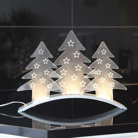 LED Table and Window Deco Bow with Figures and Chrome Stand – image 4
